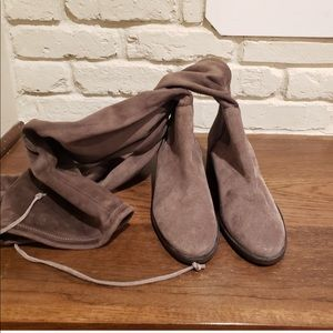 Free People Taupe Suede Boots Size 7